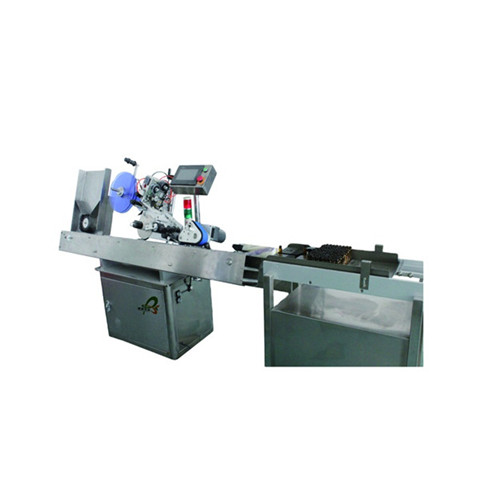 Table Top Automatic Plane Labeling Machine for Bags Top Surface Carton Box Labeller Applicator with Transparent Label Sensor