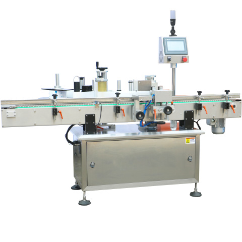 Flat Plastic Bag Sticker Automatic Sticker Labeling Machines Labeler Machine
