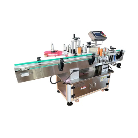 Semi Automatic Flat Labeling Machine for Bottom Jar Bag Cans Leather