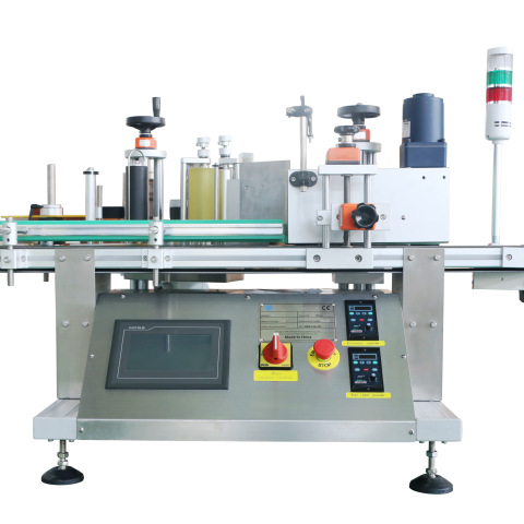 Servo Motor Pet Bottle Stickers Wet Glue Labeling Machine