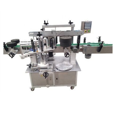 Semi Automatic Glass Ampoule Vial Tin Can Plastic Round Bottle Labeling Machine Label Coder Machine