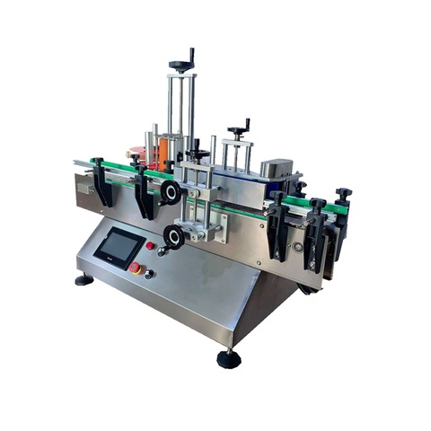 Automatic Box Carton Pouch Bag Flat Labeling Machine /Automatic Top Labeler Placed Labels on The Top of Containers