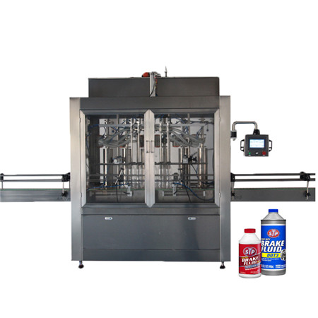 Automatic 8 Heads 2000bph Linear Piston Pressurized Water Plastic Bottle Liquid Edible Lube Oil Beverage Detergent Shampoo Filling Capping Labeling Line/Machine