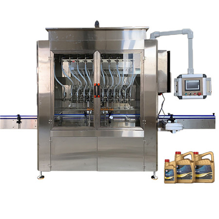 T 12 Heads Inline Type Gravity Liquid Filling Machine