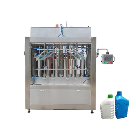 Liquid Filling Machine for Water Cream Honey Oil Gel Sanitizer Soap Hand Washing Detergent Bottle Syrup Shampoo Ketchup 4 Heads Capping Labeling